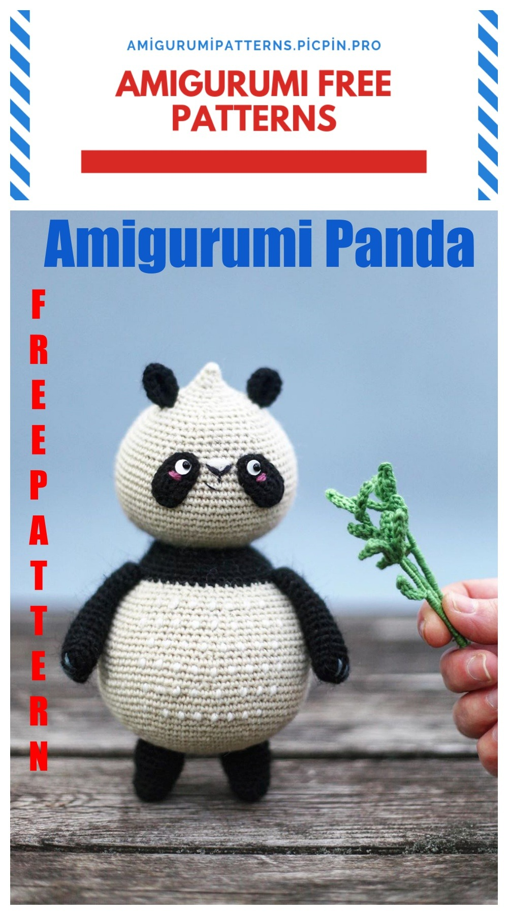 9 Crochet Panda Patterns – Cute Amigurumi Bear Toys - A More ... | 1800x1000