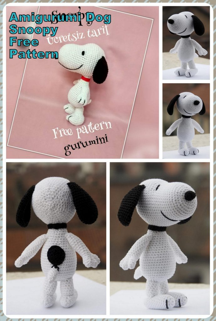 Amigurumi Dog Free Pattern – Free Amigurumi Patterns | Crochet dog ... | 1024x689