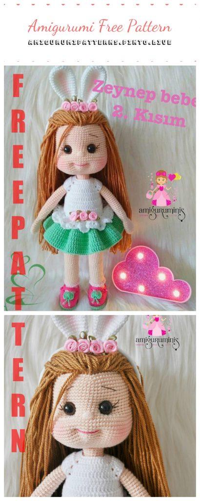 2000 Free Amigurumi Patterns: Chloe doll, free Amigurumi doll pattern | 1024x410