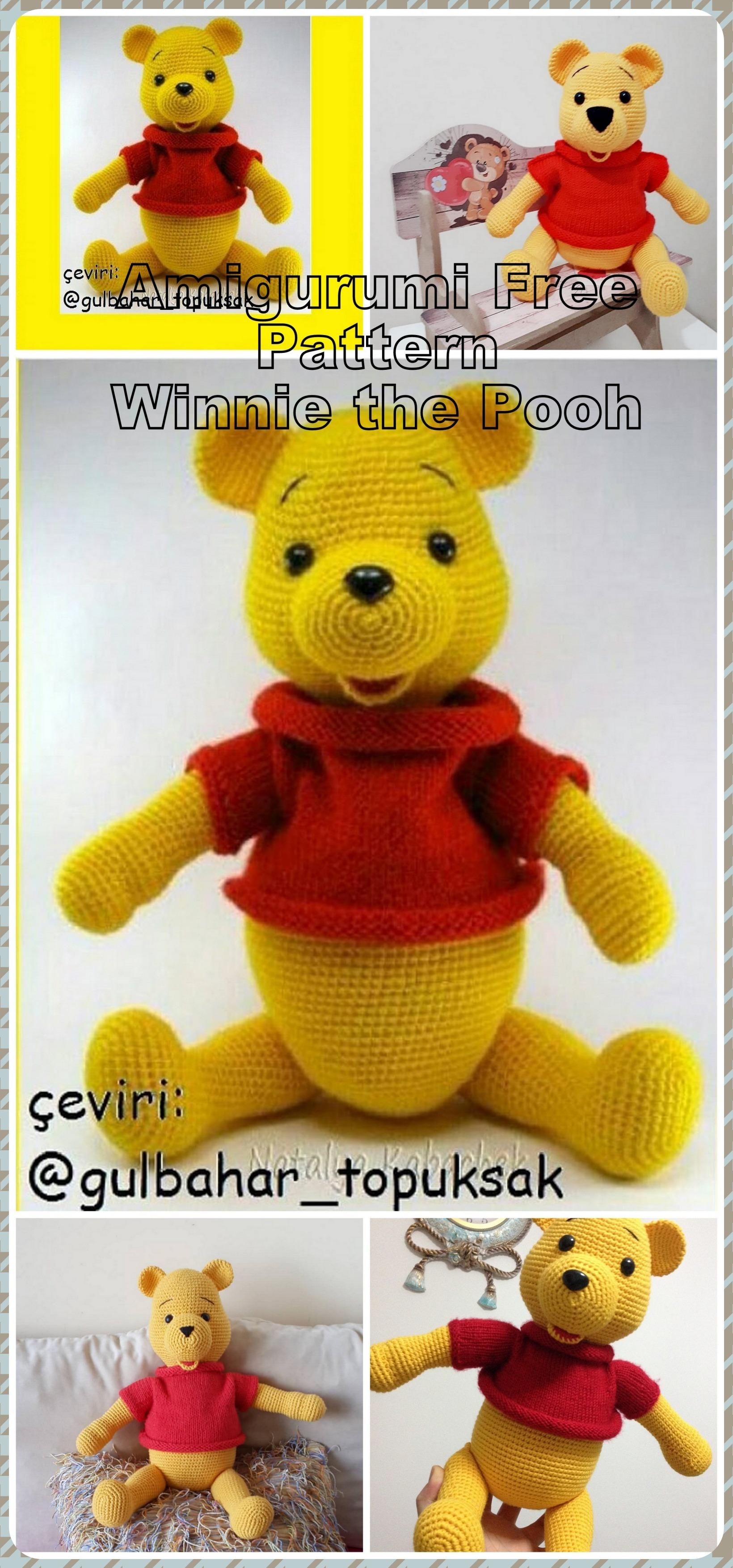 Winnie pooh y piglet amigurumi a crochet | Amigurumi patrones ... | 3506x1640