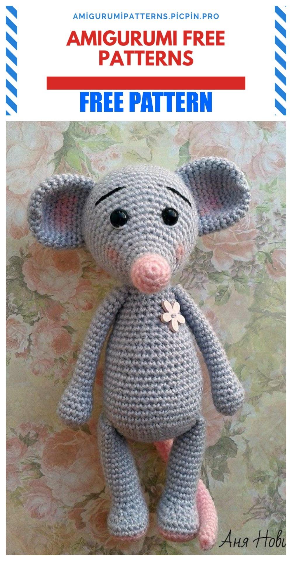 Amigurumi Mouse Crochet Pattern | Supergurumi | 1920x1000