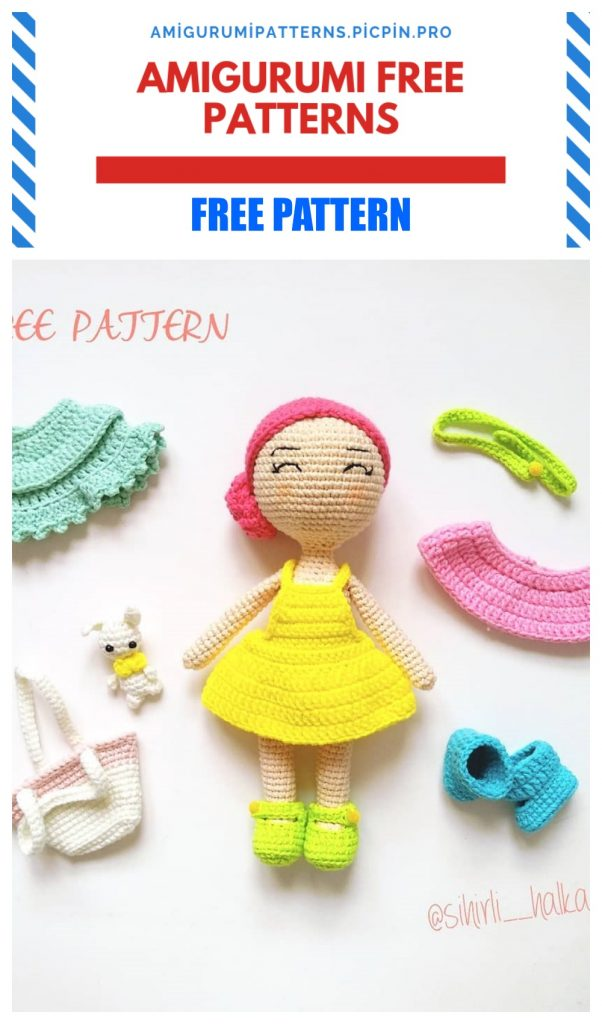 Free Crochet Amigurumi Doll Pattern Tutorials   Crochet dolls free ...   1024x602