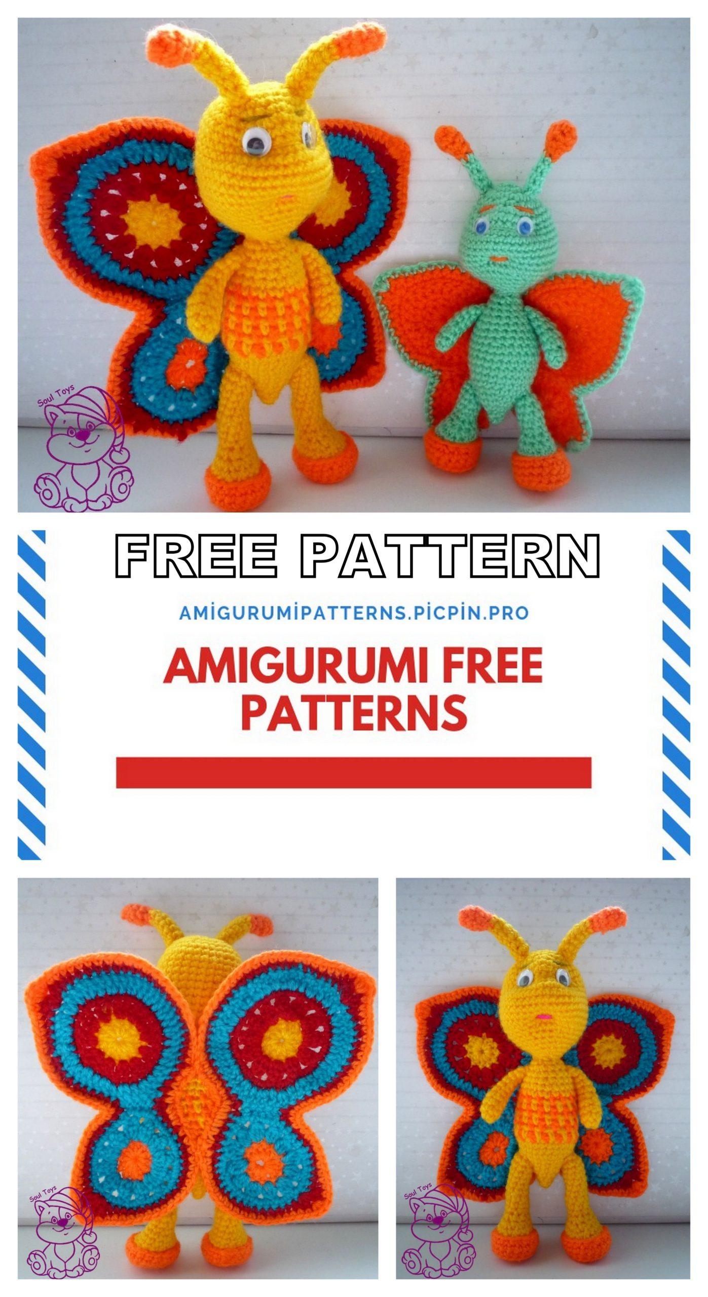 Butterfly baby rattle crochet pattern - Amigurumi Today | 2560x1397