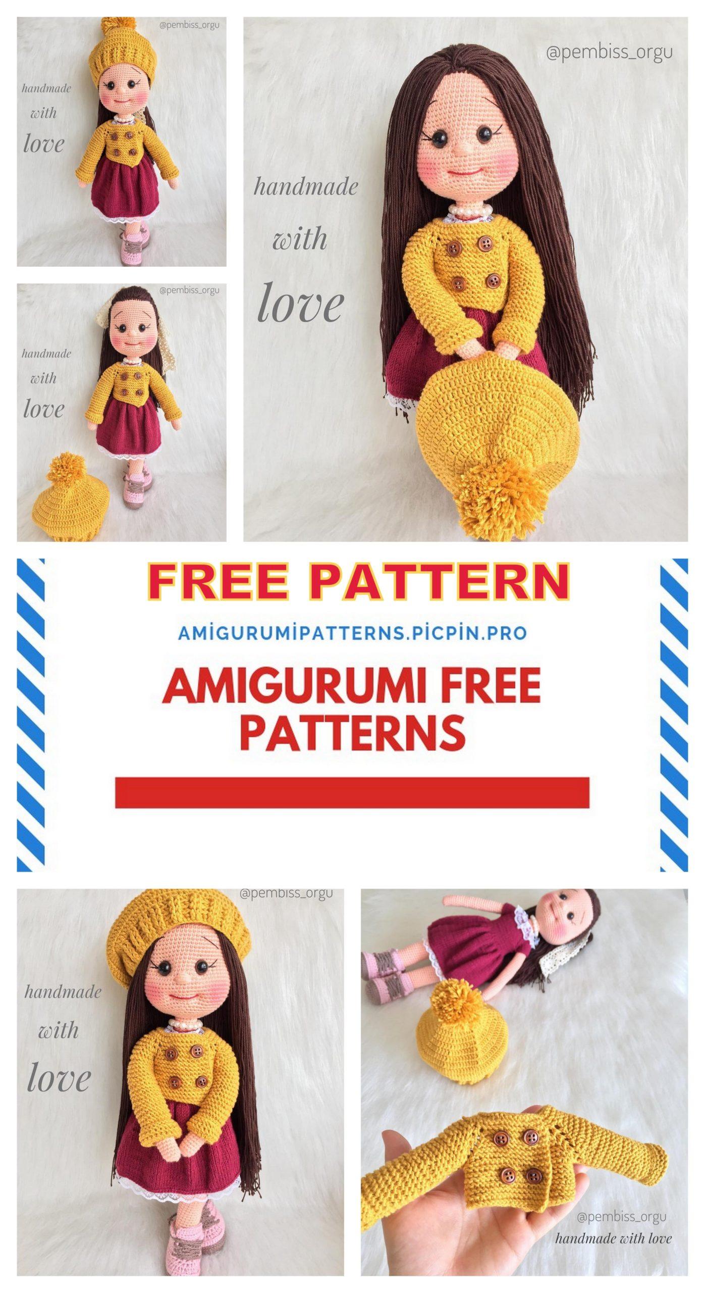 CROCHET PATTERN Lucy Doll // Amigurumi // I Love Lucy Crochet ...   2560x1397