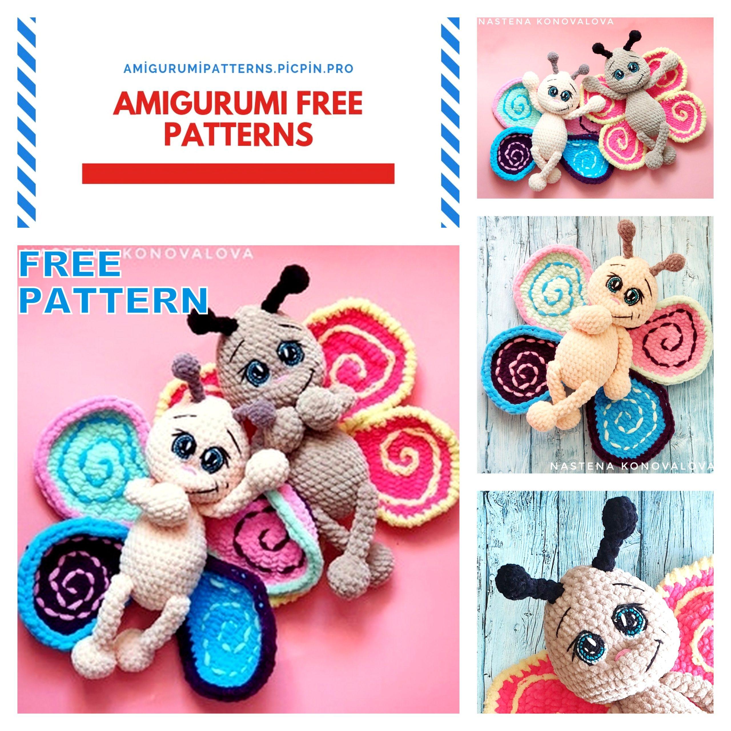 Butterfly baby rattle crochet pattern - Amigurumi Today | 2560x2560