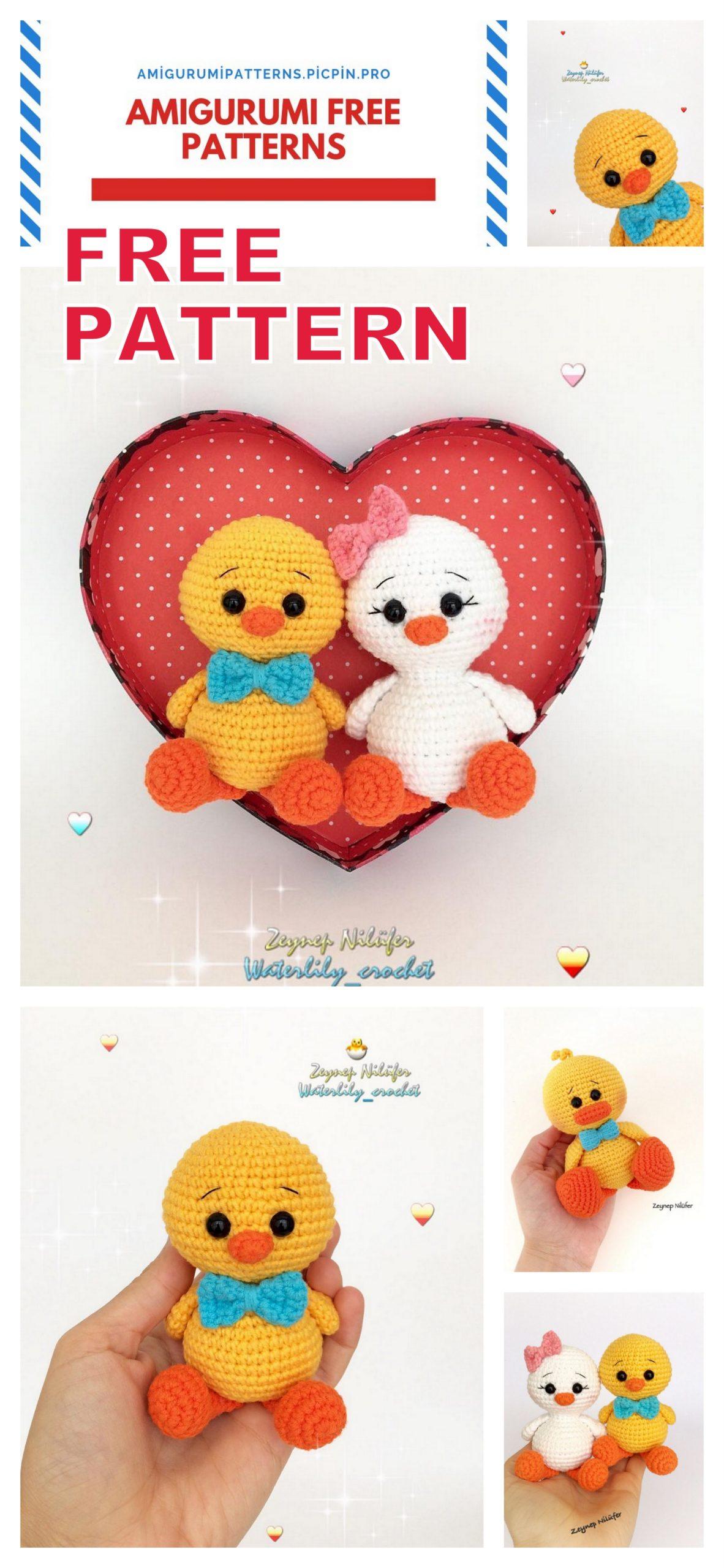 Free tiny crochet animal patterns - Amigurumi Today | 2560x1182