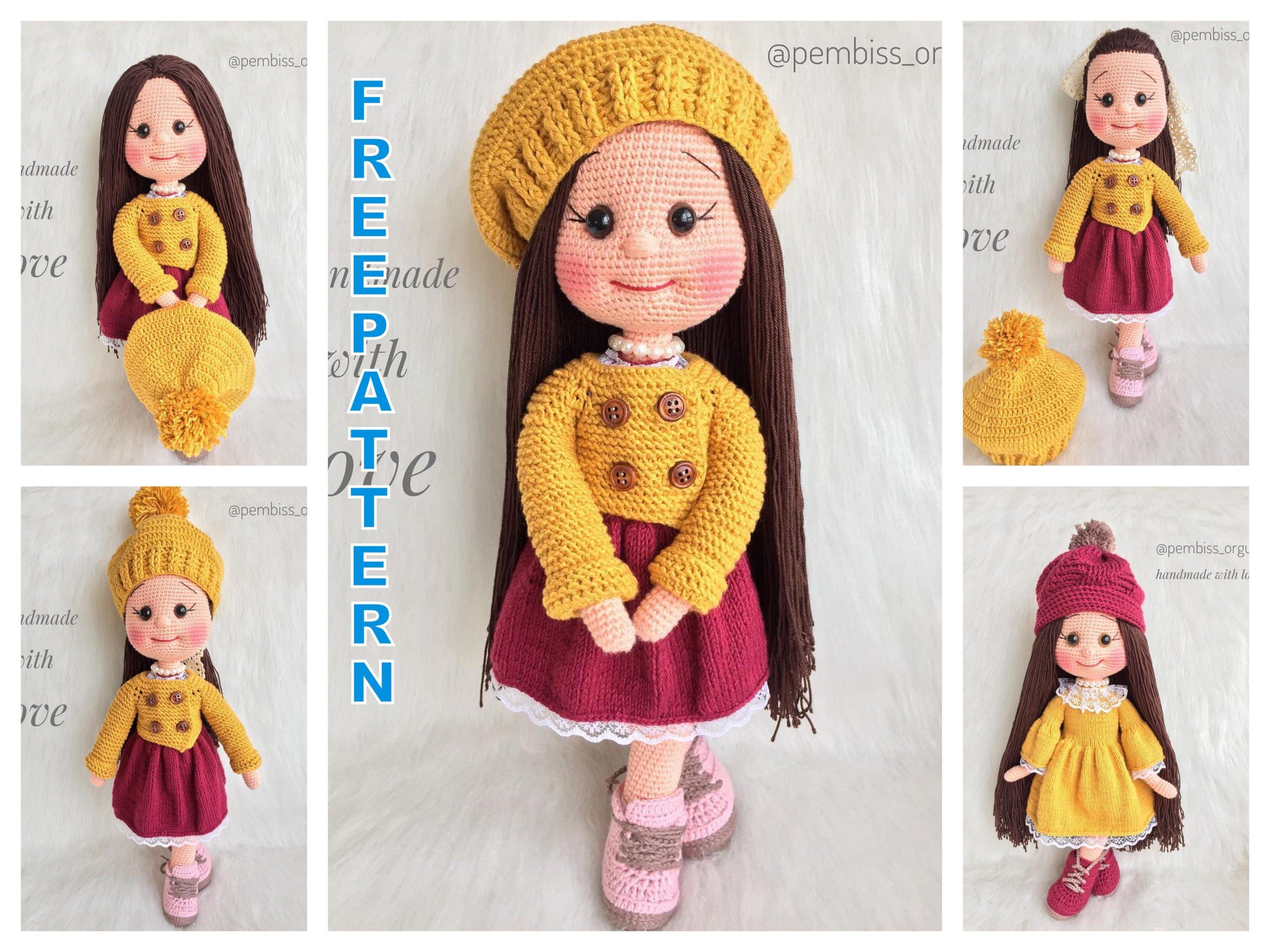Abigail Crochet Doll Pattern Amigurumi Doll Pattern | Etsy | 1920x2560