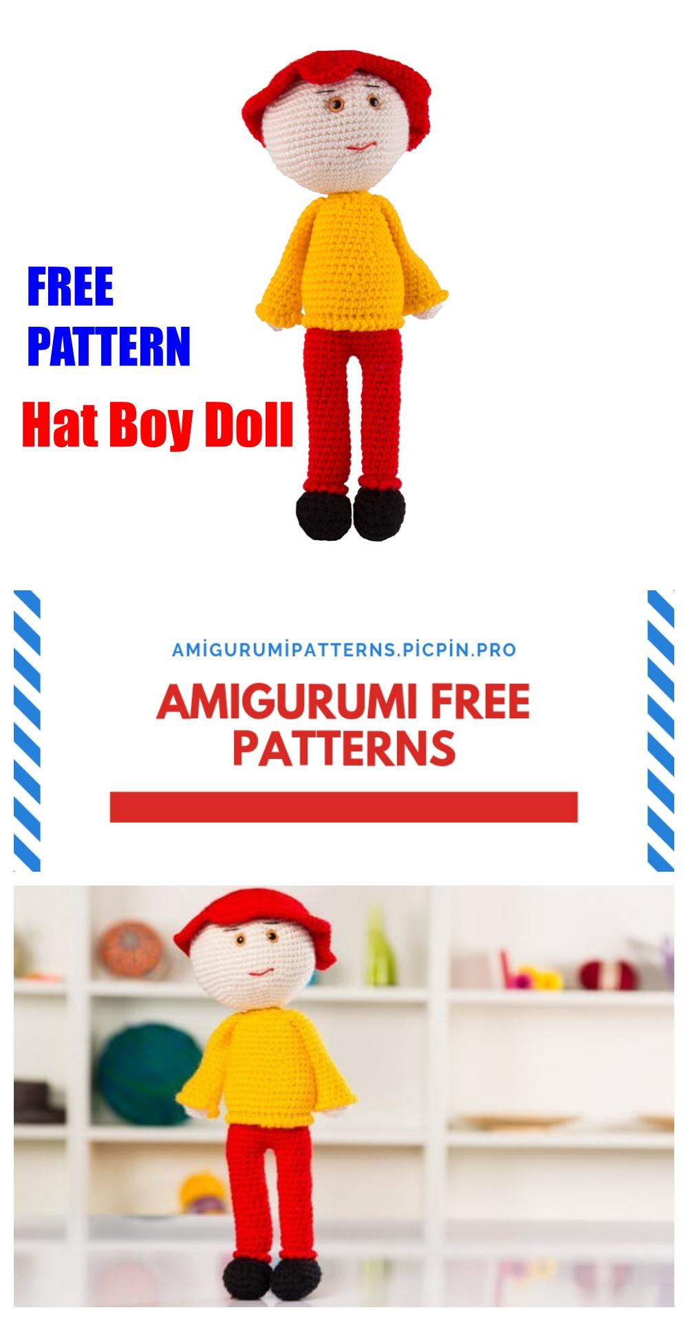 download a FREE pattern every day.   Puppe häkeln, Strickpuppen, Figuren  häkeln   1920x1000