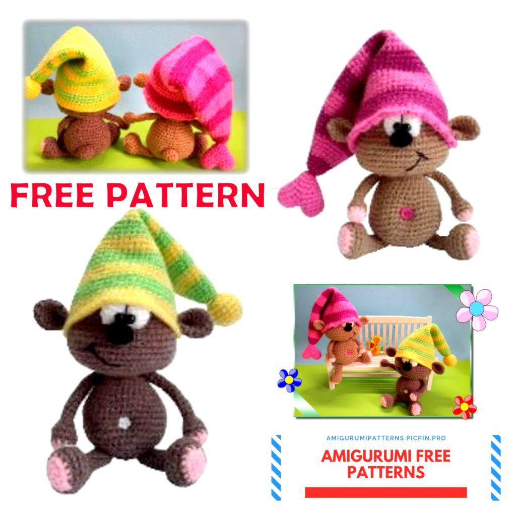 Amigurumi Little Funny Bear Free Crochet Pattern