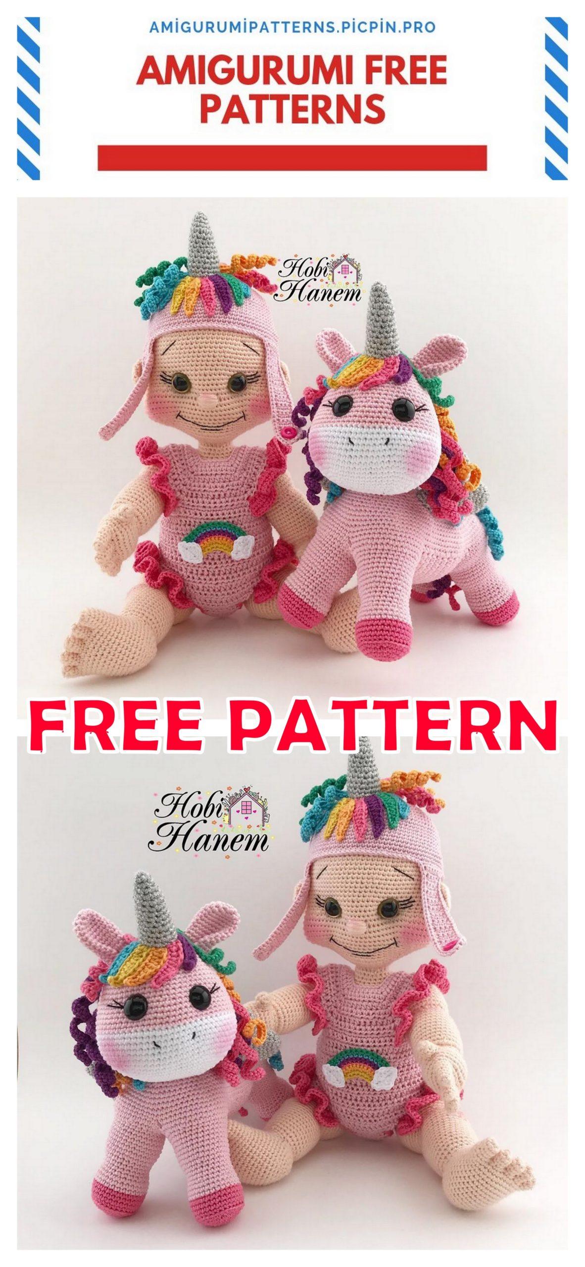 Crochet doll PATTERN, AMIGURUMI pattern, amigurumi doll pdf ... | 2560x1182