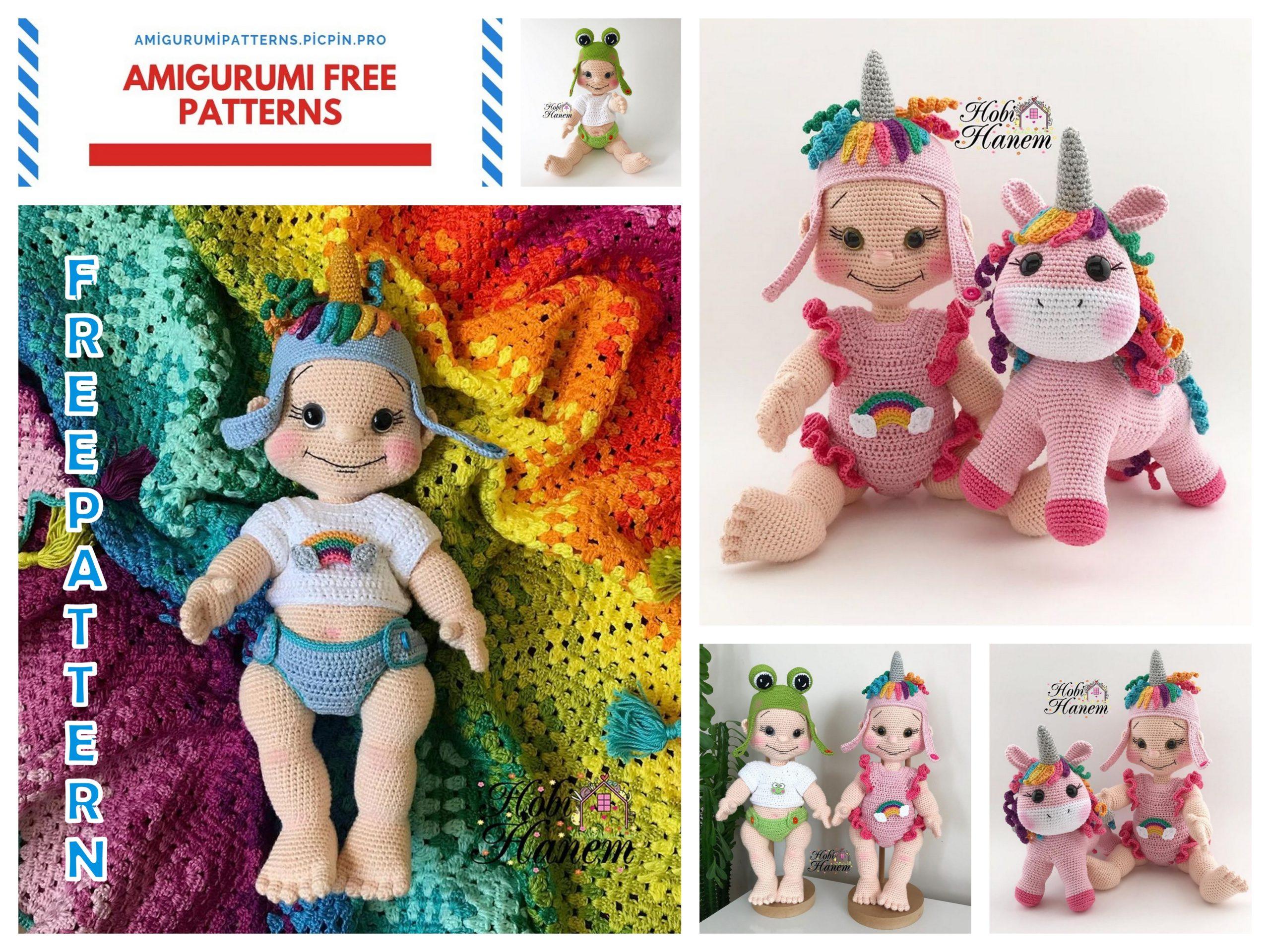 Free Pattern! Baby Rudolph Amigurumi Crochet Pattern | 1920x2560