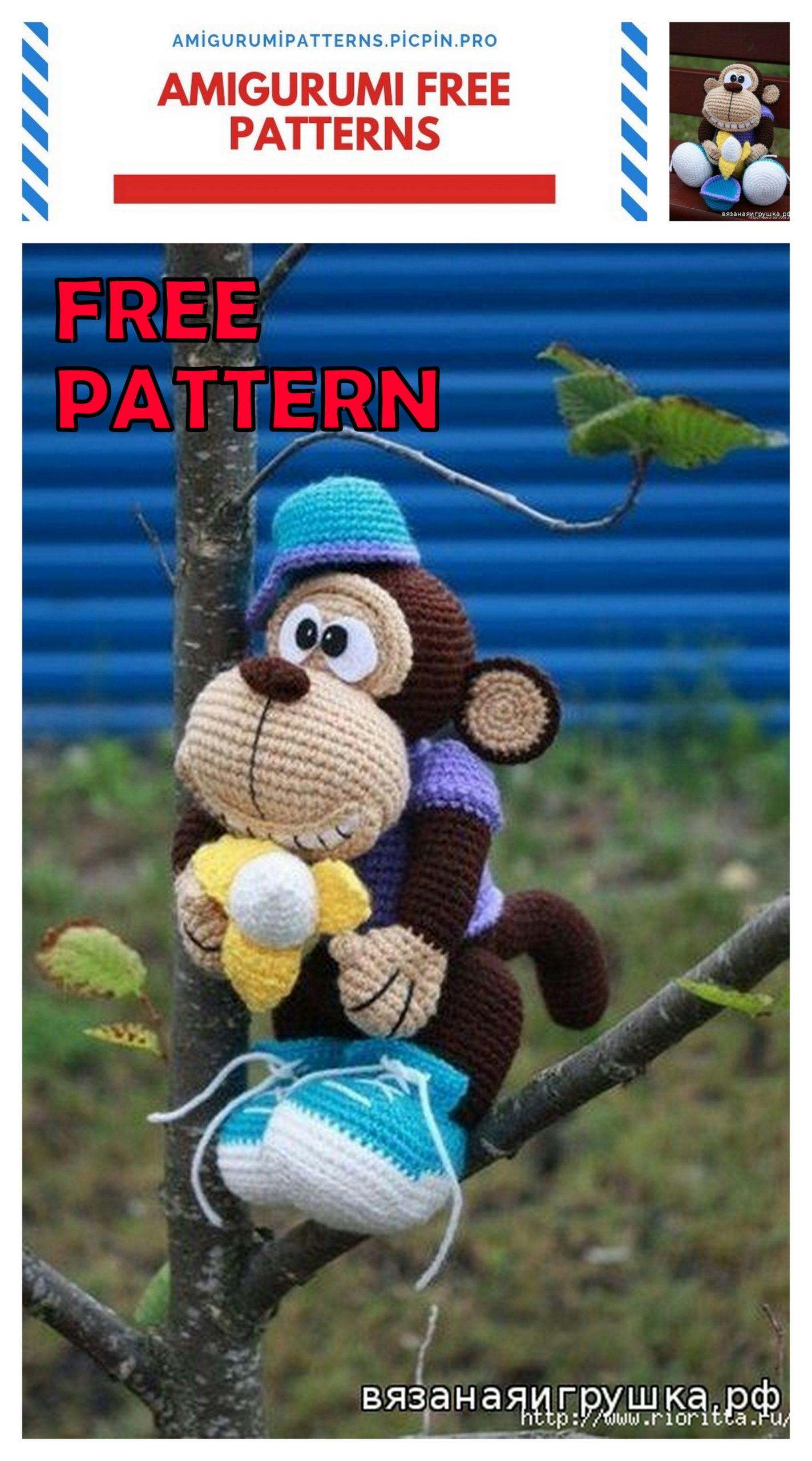 Cuddle Me Monkey amigurumi pattern - Amigurumi Today   2560x1423