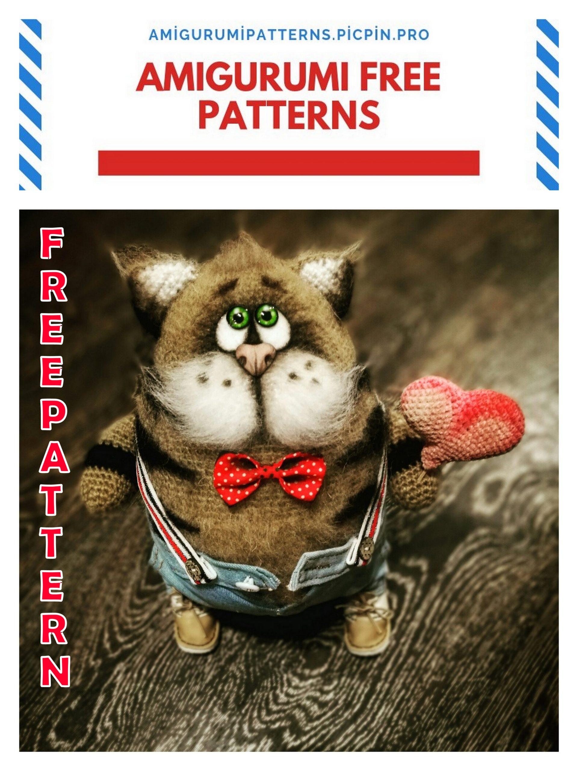 Crochet cat free pattern amigurumi | Amiguroom Toys | 2560x1921