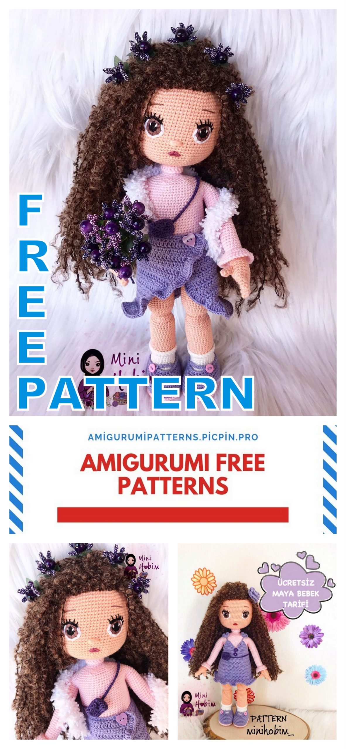 Back post single crochet (bpsc)   Amigurumi tutorial   lilleliis   2560x1182