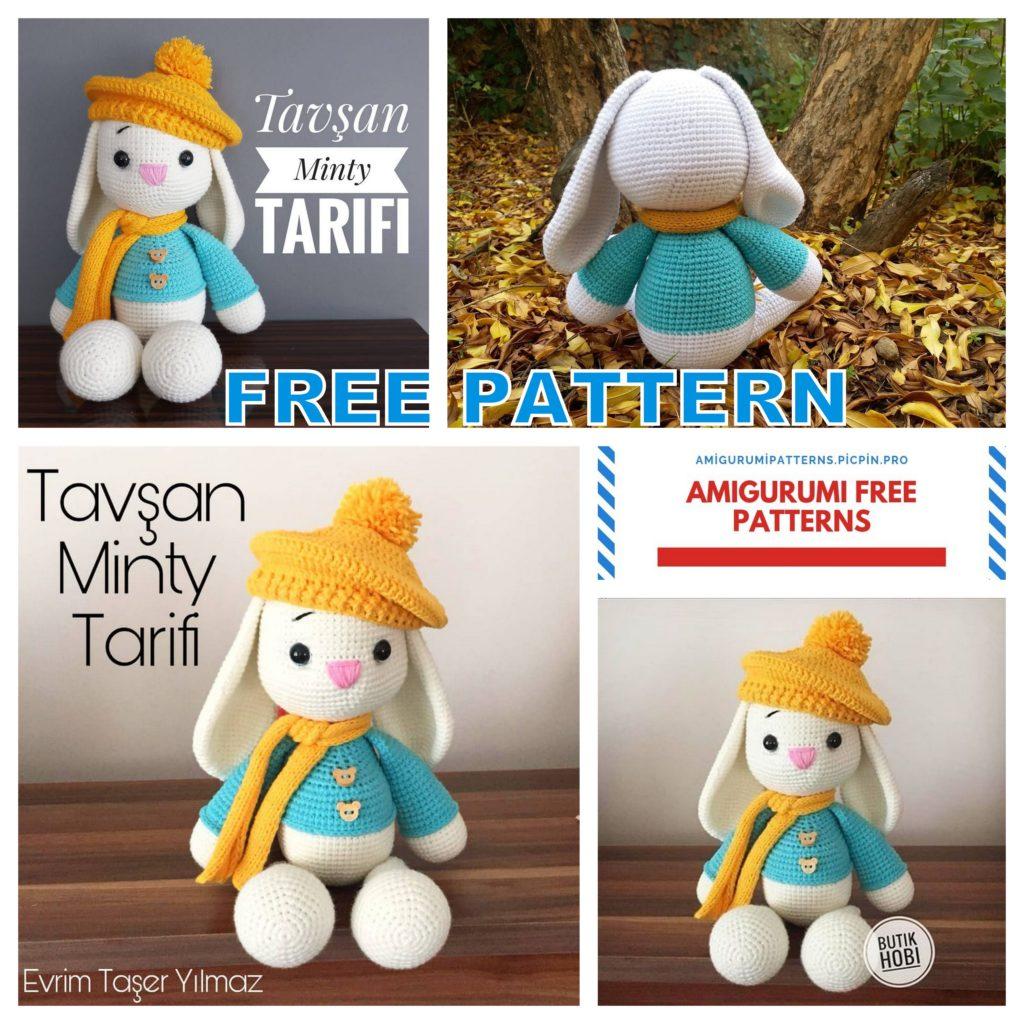 Amigurumi Bunny Minty Free Crochet Pattern