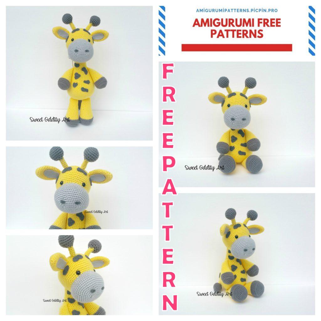 Amigurumi Grayson the Giraffe Free Crochet Pattern