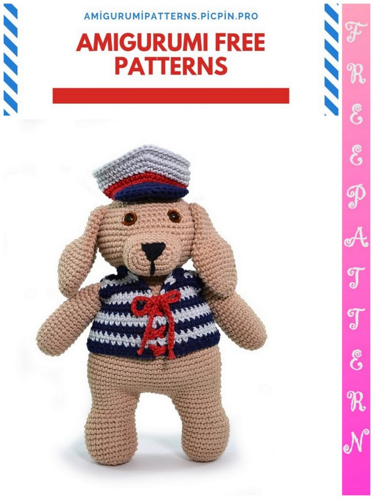 Captain Dog Maxi Amigurumi Free Crochet Pattern