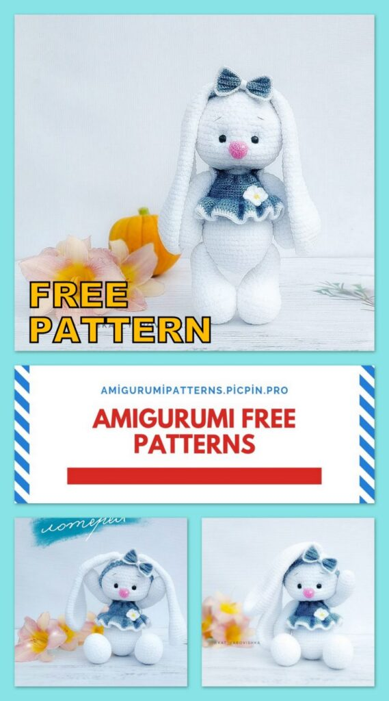 Drooping Ear Bunny Amigurumi Free Pattern