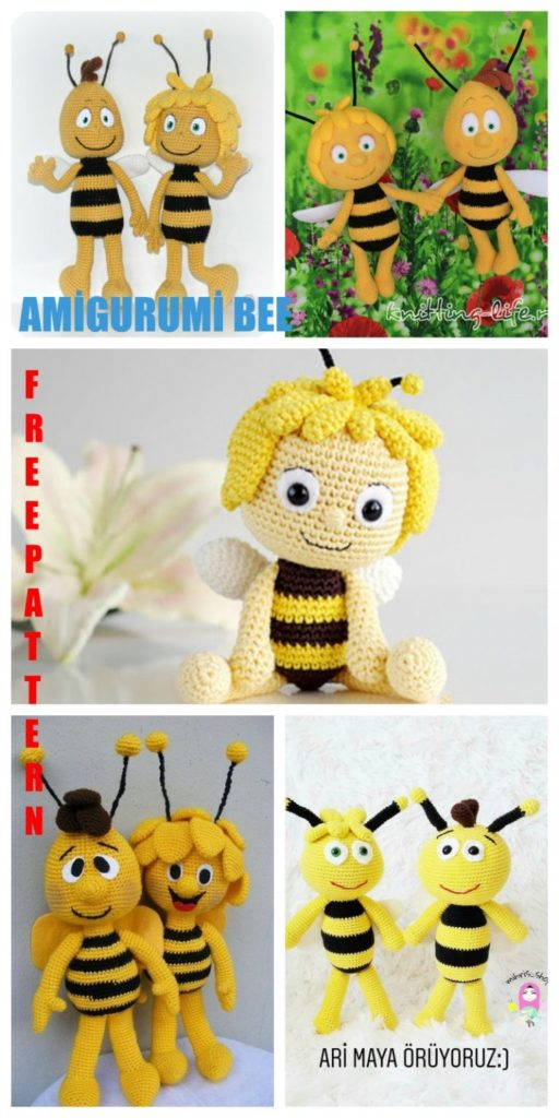 Amigurumi Maya the Bee Free Crochet Pattern