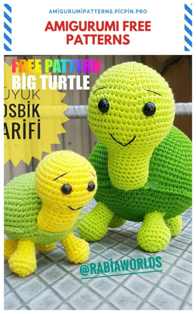 Amigurumi Big Turtle Free Crochet Pattern