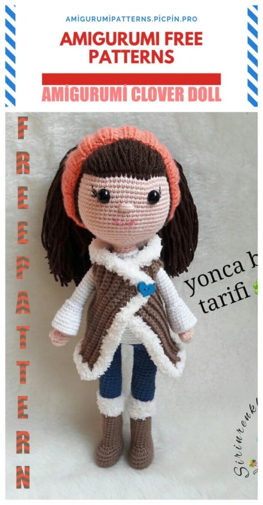 Amigurumi Clover Doll Free Crochet Pattern