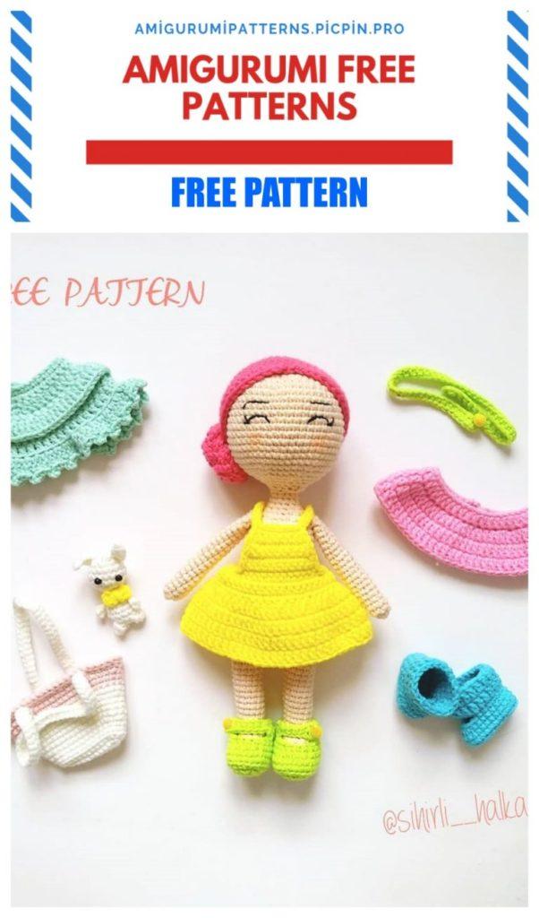 Amigurumi Style Doll Free Crochet Pattern
