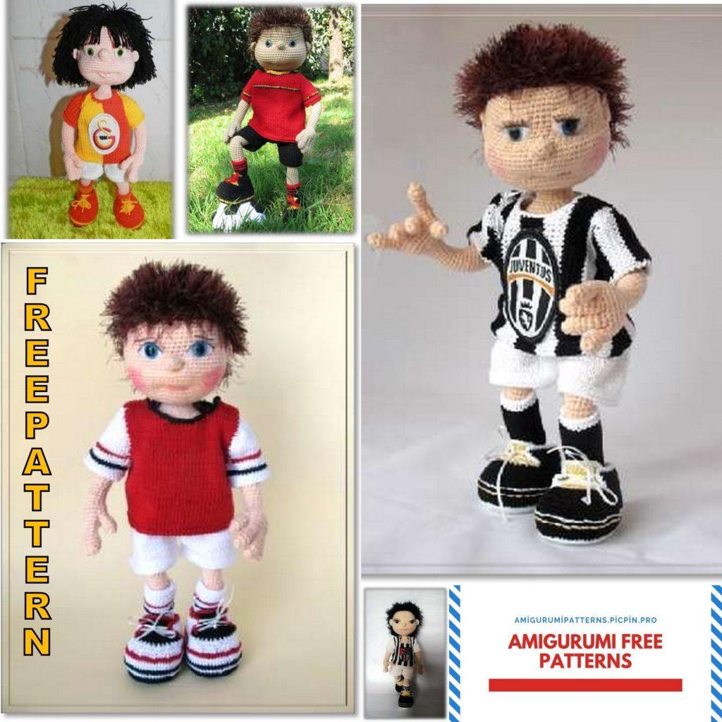 Amigurumi Football Player Doll Free Pattern