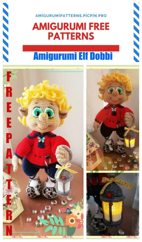 Amigurumi Elf Dobbi Free Crochet Pattern