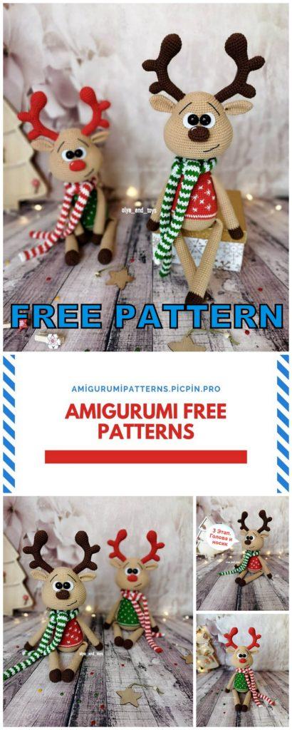 Amigurumi Reindeer Free Crochet Pattern