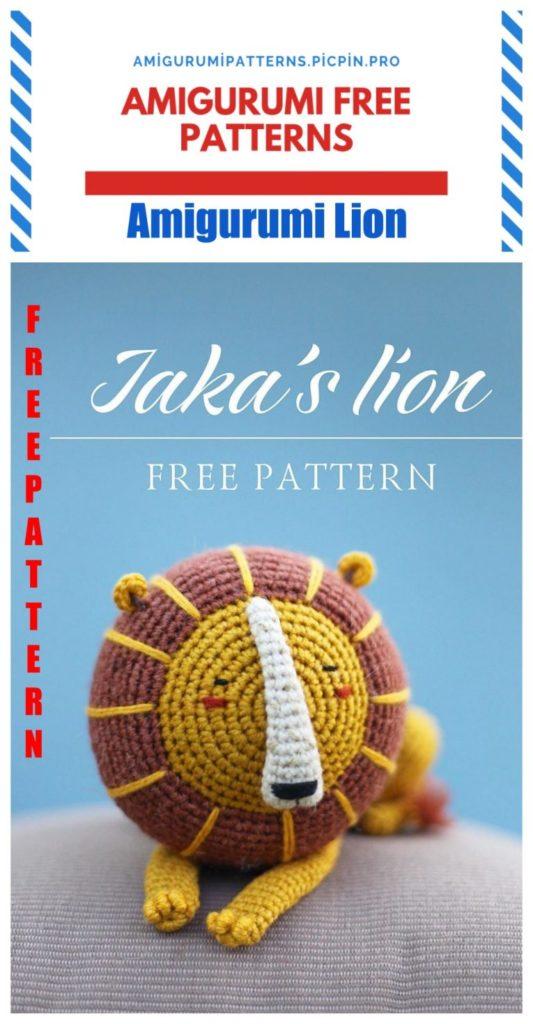Amigurumi Lion Free Crochet Pattern