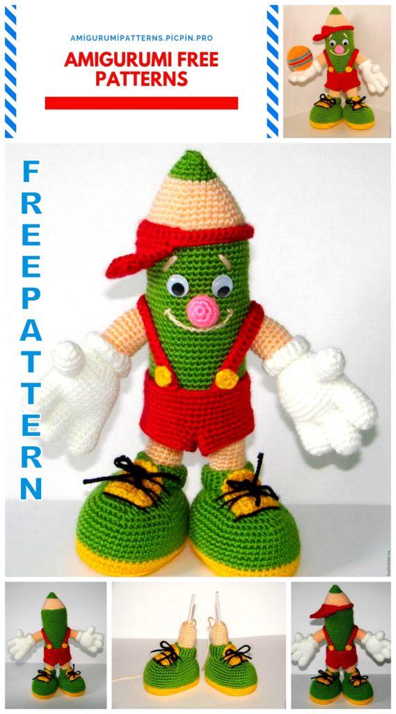 Amigurumi Pencil Toy Free Pattern