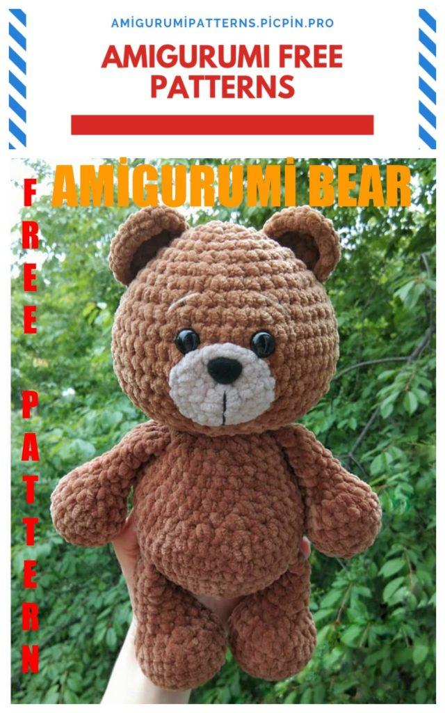Amigurumi Tedy Bear Free Crochet Pattern