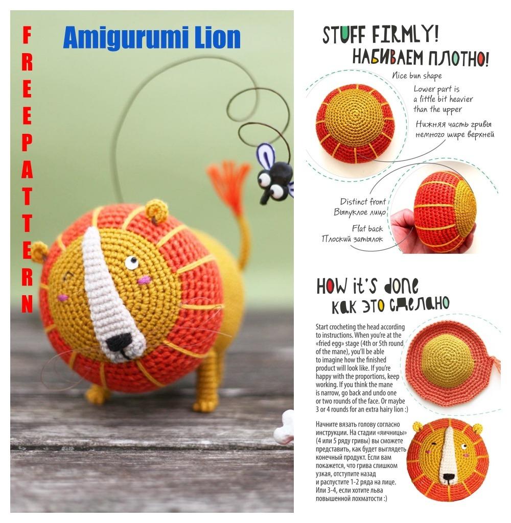 FREE AMİGURUMİ Lion Crochet Pattern