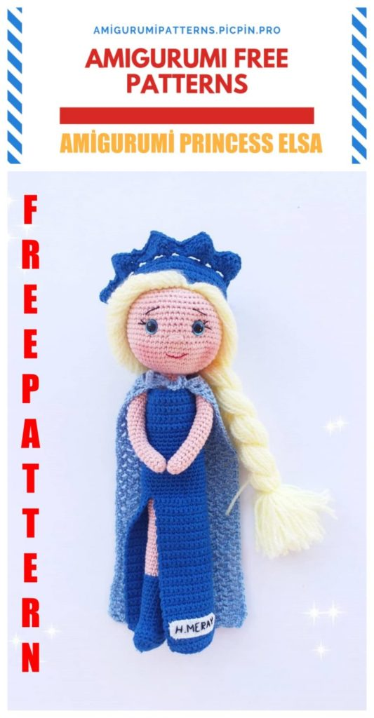 Amigurumi Disney Frozen Princess Elsa Free Crochet Pattern